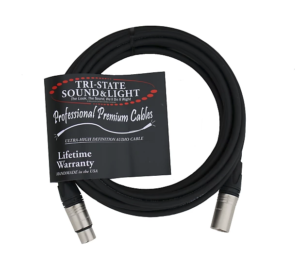Premium XLR Microphone Cable 25ft (Pack of 3)